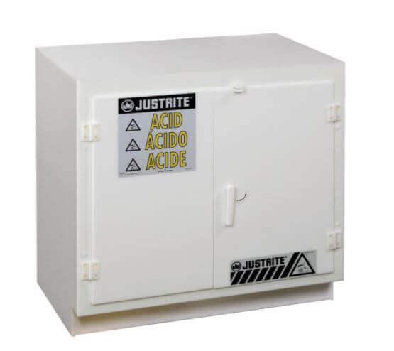 ארון בטיחות מפוליאתילן לאחסון חומרים אגרסיביים