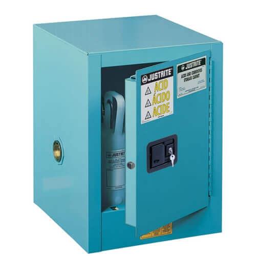 ארון בטיחות כחול לאחסון קורוזיביים וחומצות