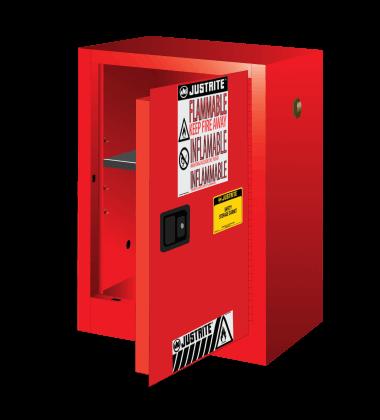 ארון בטיחות אדום לאחסון צבעים