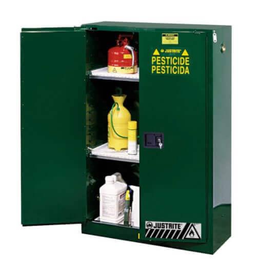 ארונות בטיחות ירוקים לאחסון חומרי הדברה