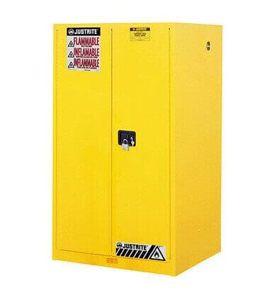 ארון בטיחות צהוב לאחסון דליקים